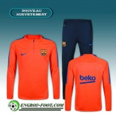 Prix Survetement Foot FC Barcelone Orange 2016 2017