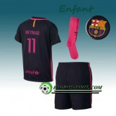 Promotions Ensemble Maillot Foot FC Barcelone Enfant NEYMAR JR 11 Exterieur 2016 2017 Pourpre