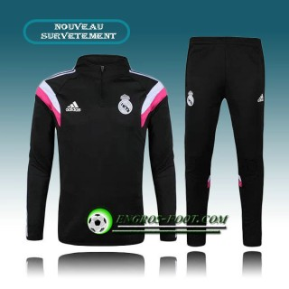 Soldes Survetement Foot Real Madrid Noir 2015 2016