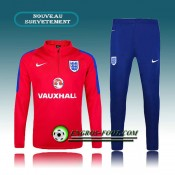 Survetement Foot Angleterre Rose 2016 2017 Officiel
