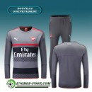 Survetement Foot Arsenal Gris/Noir/Rouge 2016 2017 Ensemble Vendre Marseille