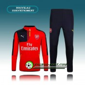 Survetement Foot Arsenal Rouge 2015 2016 Pas Cher