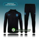 Survetement Foot Barcelone Noir&Blue Side 2015 2016 Promos
