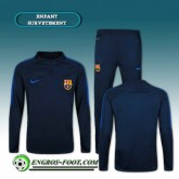 Survetement Foot FC Barcelone Enfant Bleu Marine 2016 2017 Original
