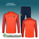 Survetement Foot FC Barcelone Orange Printing 2016 2017 Magasin De Sortie