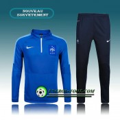 Survetement Foot France Bleu Marine 2016 2017 Promotions