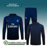 Survetement Foot Paris PSG Bleu Marine 2016 2017 Site Officiel