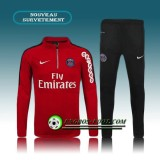 Survetement Foot Paris PSG Rouge 2015 2016 En Ligne