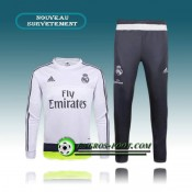 Survetement Foot Real Madrid Blanc (02) 2015 2016 Moins Cher