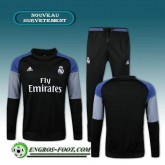 Survetement Foot Real Madrid Noir 2016 2017 Ensemble Prix France