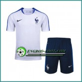 T Shirt France Blanc Kit 2016 2017 et Shorts Rabais