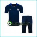 T Shirt France Bleu Marine Kit 2016 2017 et Pantalon 3/4 Site Francais