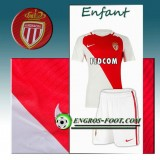 Vente Ensemble Maillot Foot AS Monaco Enfant Domicile 2016 2017 Rouge/Blanc