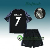 Vente Privee Ensemble Maillot Foot Real Madrid Enfant RONALDO 7 Third 2016 2017 Blanc