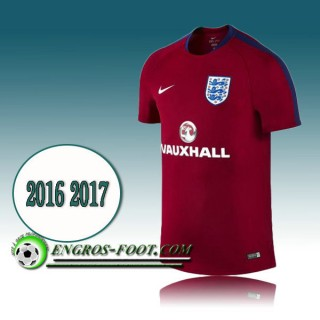 Vente Privee Maillot Training Equipe de Angleterre Rouge PRE-MATCH 2016 2017