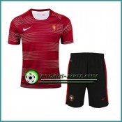 Vente Privee T Shirt Portugal Rouge Kit 2016 2017 et Shorts