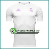 Vente Privée Training T Shirt Real Madrid Blanc 2016 2017
