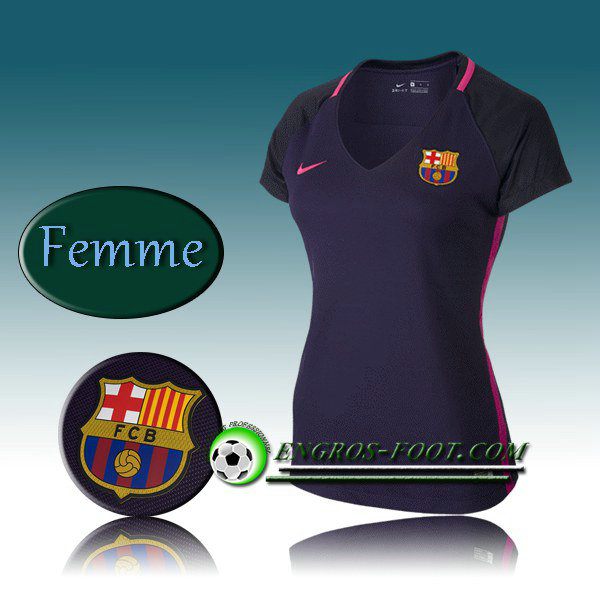 achat maillot de foot fc barcelone femme exterieur 2016 2017 pourpre. Black Bedroom Furniture Sets. Home Design Ideas