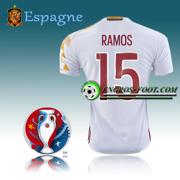 Maillot Foot Espagne Exterieur - RAMOS 15