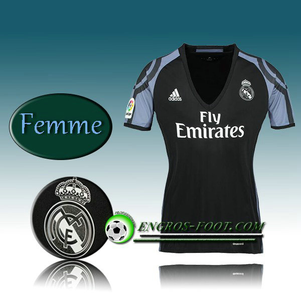 Maillot de Foot Real Madrid Femme Third 2016 2017 Blanc
