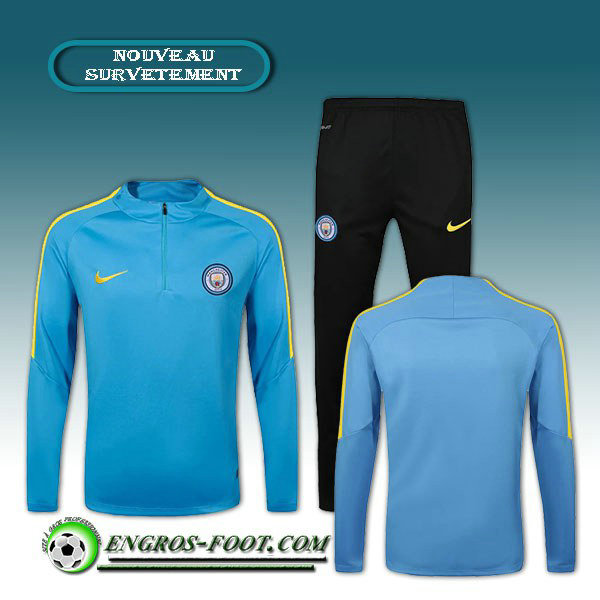 Survetement Foot Manchester City Bleu 2016 2017