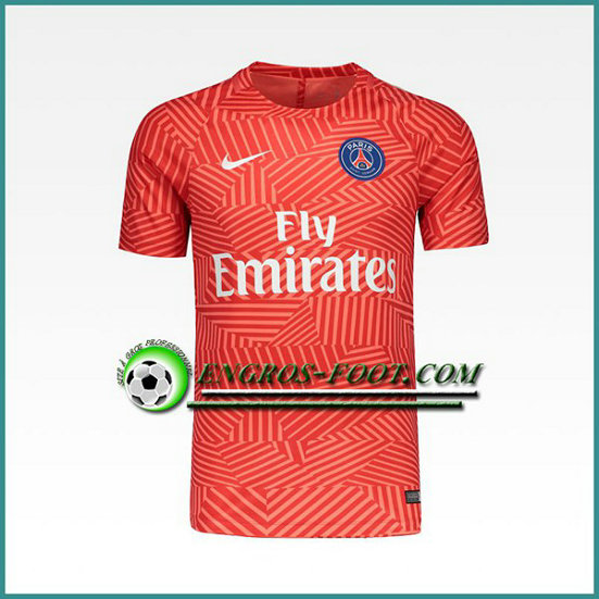 Training T Shirt Paris PSG Rouge Printing 2016 2017