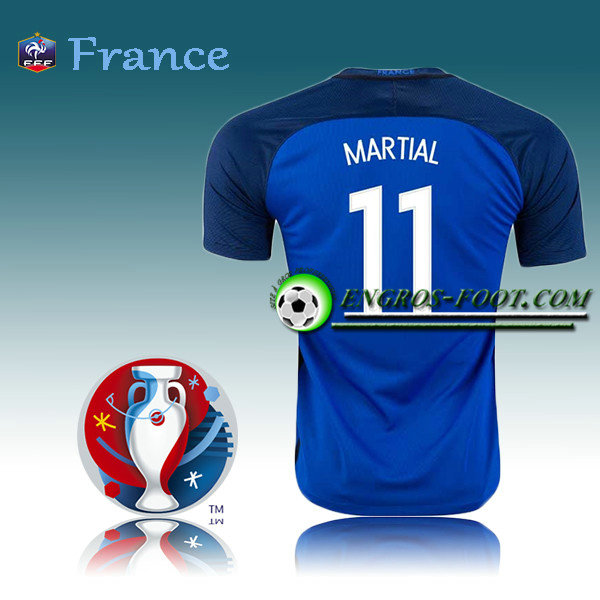 Maillot Euro 2016 Foot France Domicile - MARTIAL 11