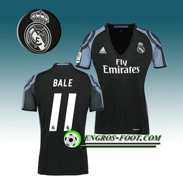 Maillot de Foot Real Madrid Femme BALE 11 Third 2016 2017 Blanc