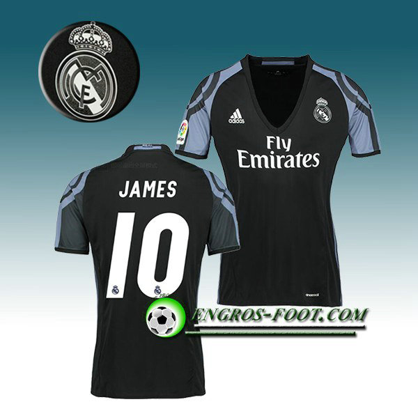 Maillot de Foot Real Madrid Femme JAMES 10 Third 2016 2017 Blanc