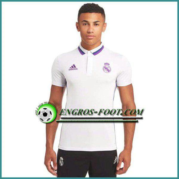 Maillot de Polo Real Madrid Blanc 2016 2017
