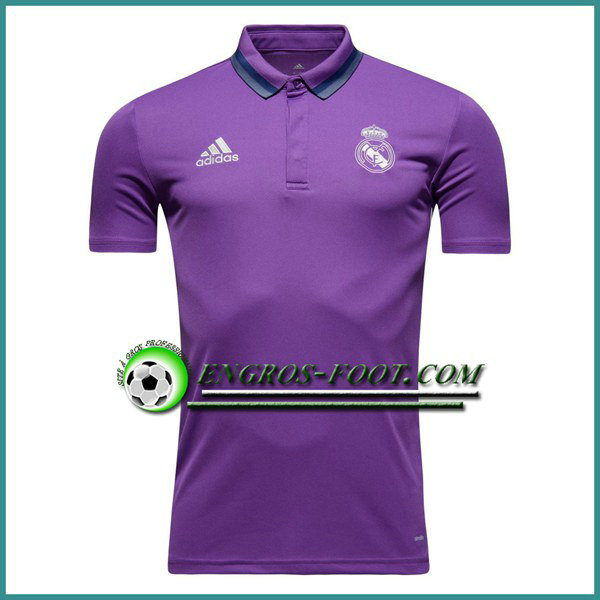 Maillot de Polo Real Madrid Pourpre 2016 2017