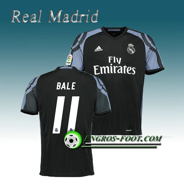 Maillot de Real Madrid BALE 11 Third 2016 2017 Noir