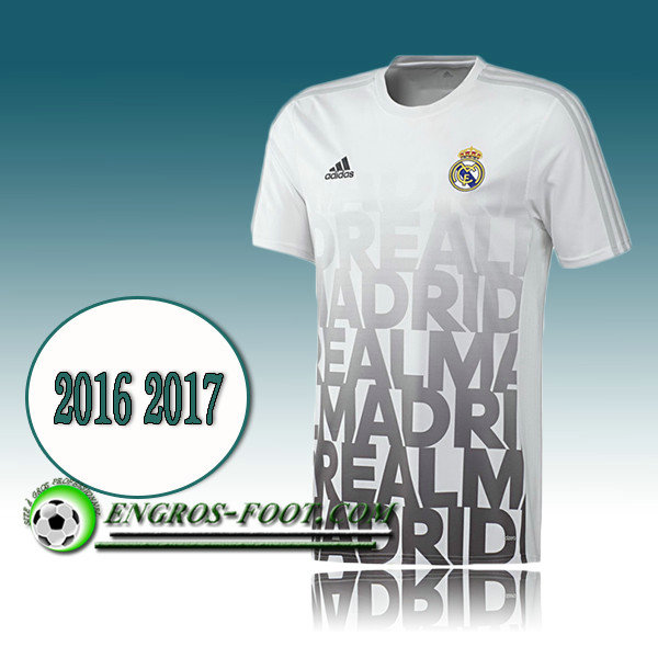 Maillot de Training Real Madrid Blanc PRE-MATCH 2016 2017