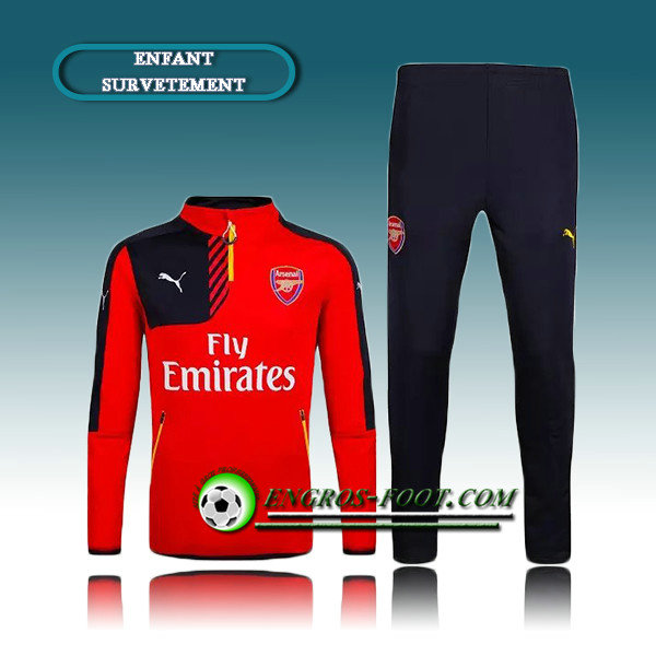 Survetement Enfant Arsenal Rouge 2016 2017 Vendre France