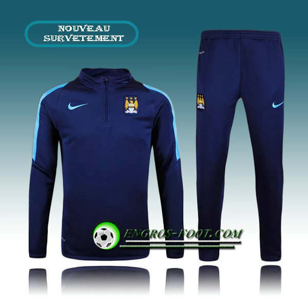 Survetement Foot Manchester City Bleu Marine 2015 2016