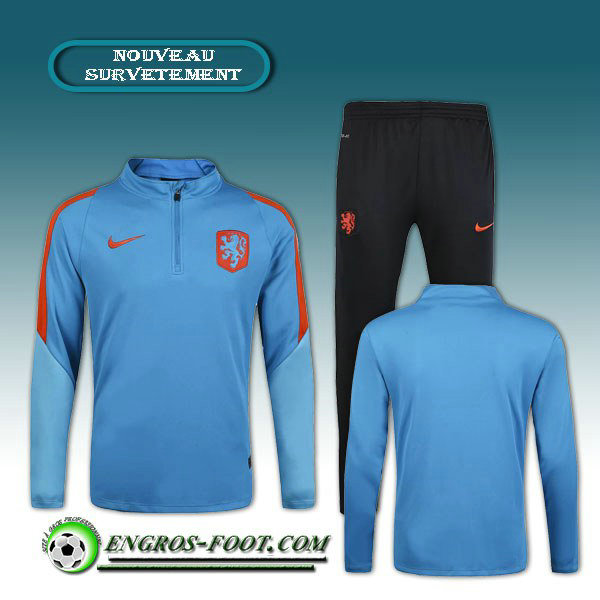 Survetement Foot Netherlands Bleu 2016 2017