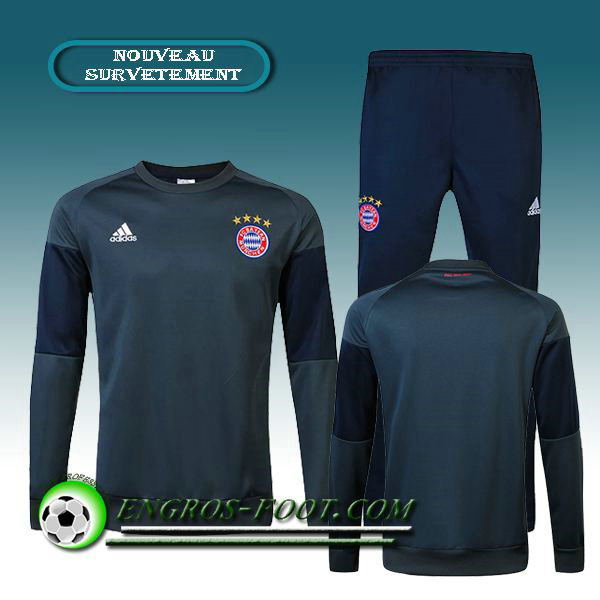 Survetement foot Bayern Munich Noir/Gris 2016 2017
