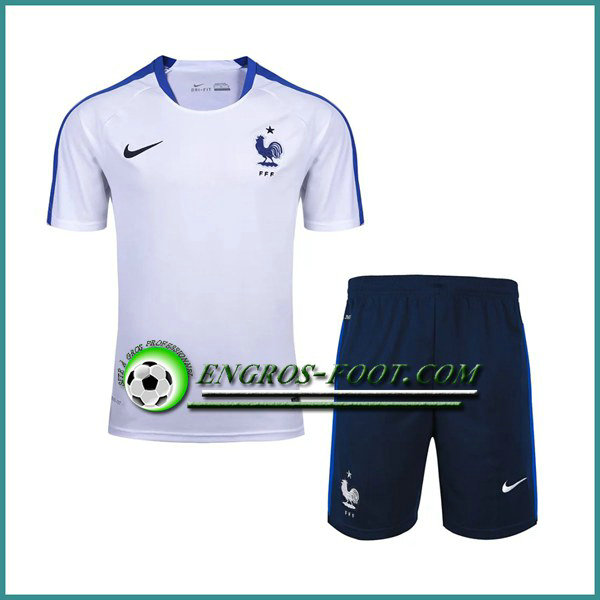 T Shirt France Blanc Kit 2016 2017 et Shorts