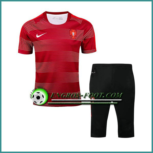 T Shirt Portugal Rouge Kit 2016 2017 et Pantalon 3/4