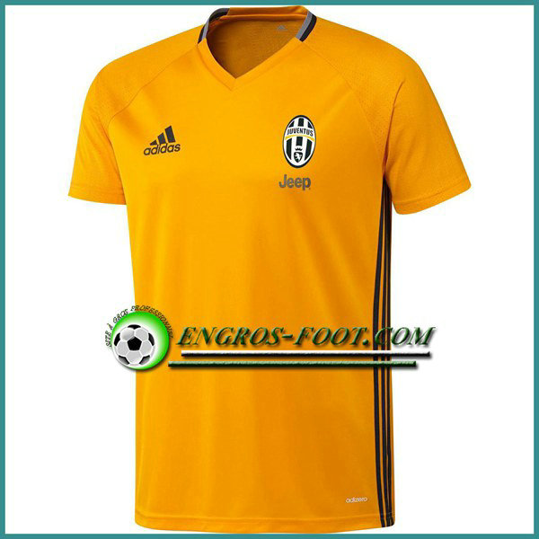 Training T Shirt Juventus Jaune 2016 2017