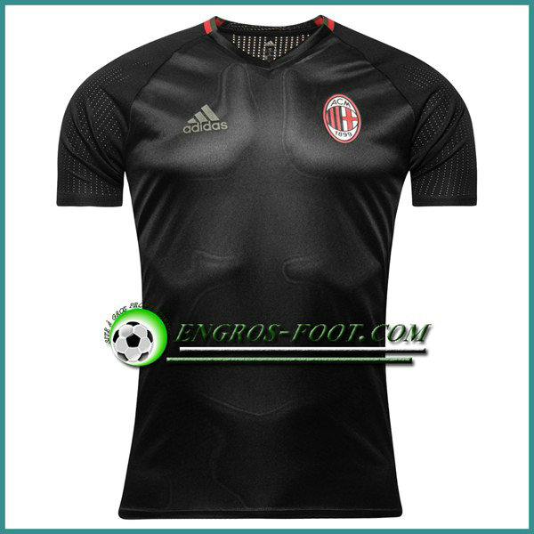Training T Shirt Milan AC Noir 2016 2017