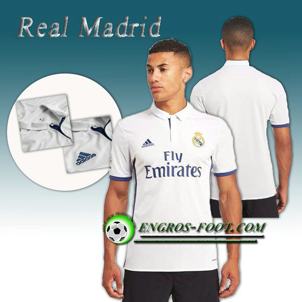 Maillot de Real Madrid Domicile 2016 2017 Blanc