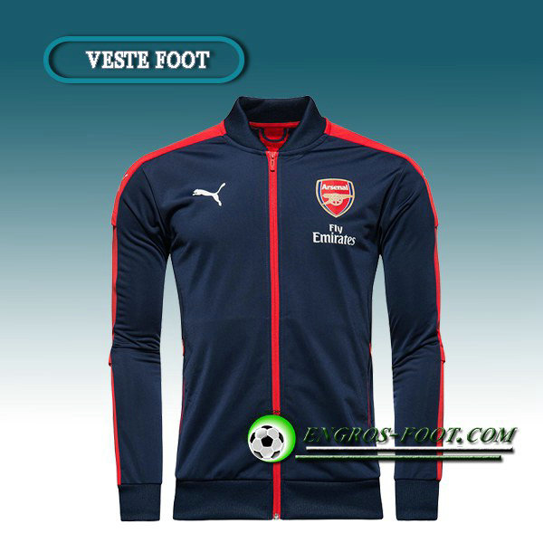 Veste Foot Arsenal Bleu/Rouge 2016 2017