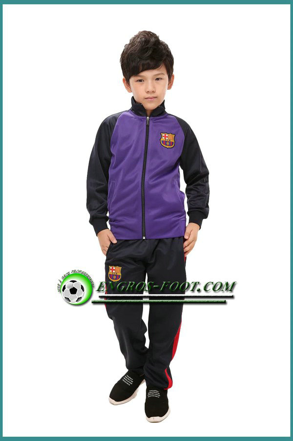 veste foot enfant fc barcelone pourpre 2016 2017 pas ch re. Black Bedroom Furniture Sets. Home Design Ideas