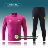 Authentique Survetement Foot FC Barcelone Rose Noir 2016 2017
