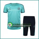 Champions League T Shirt FC Chelsea Bleu Clair Kit 2016 2017 & Pantalon 3/4 Boutique Paris