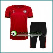 Champions League T Shirt Manchester United Rouge Kit 2016 2017 & Pantalon 3/4 Site Officiel
