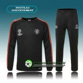 Champions league Survetement Foot Manchester United Noir 2015 2016 Promo Prix Paris