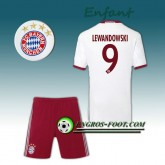 Ensemble Maillot Foot FC Bayern Enfant LEWANDOWSKI 9 Third 2016 2017 Gris Paris