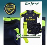 FR Ensemble Maillot Foot Arsenal Enfant Third 2016 2017 Bleu Marine